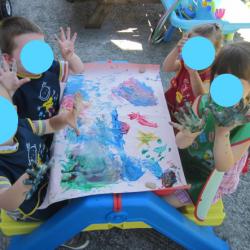 peinture à huit mains