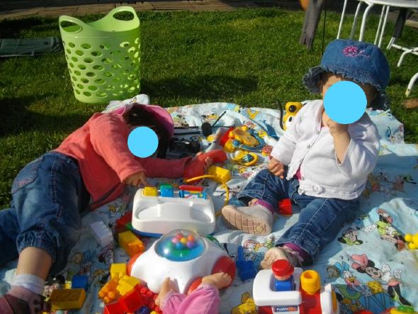 sorti au parc pour bébé